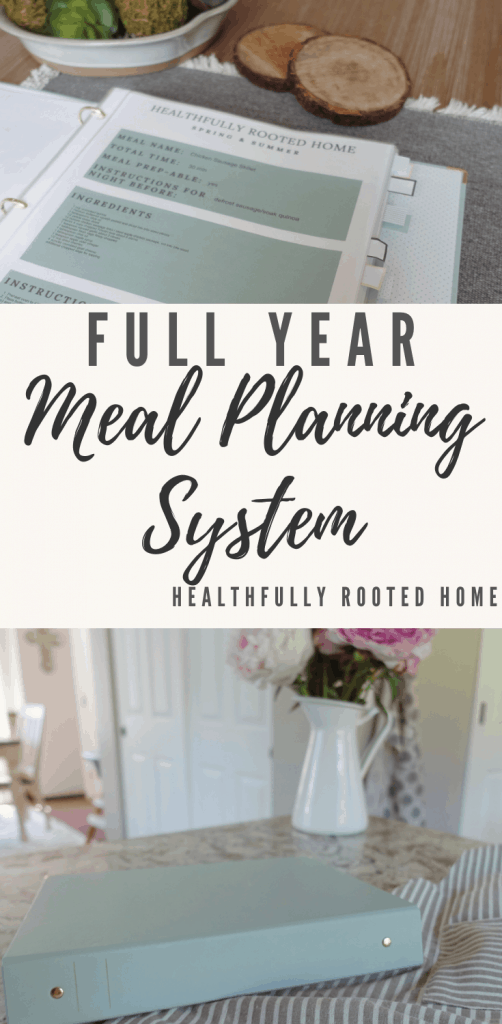 Full Year Meal Planning System Healthfully Rooted Home #mealplanning #fullyearmealplan #mealplanningsystem