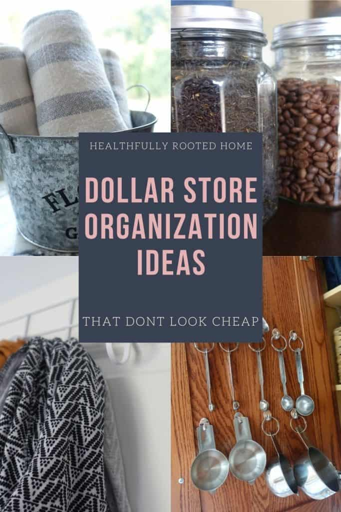 I'll show you how to organize your house in a classy way with dollar store finds